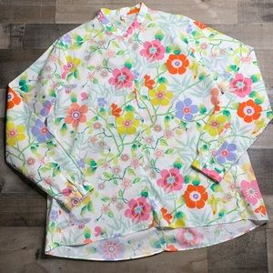 ROBERT FRIEDMAN L/S FLORAL BUTTON UP SZ XL